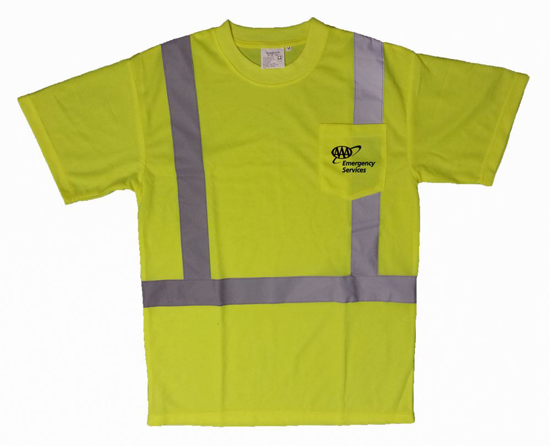 Picture of Reflective Striped Safety T-Shirt - ANSI2