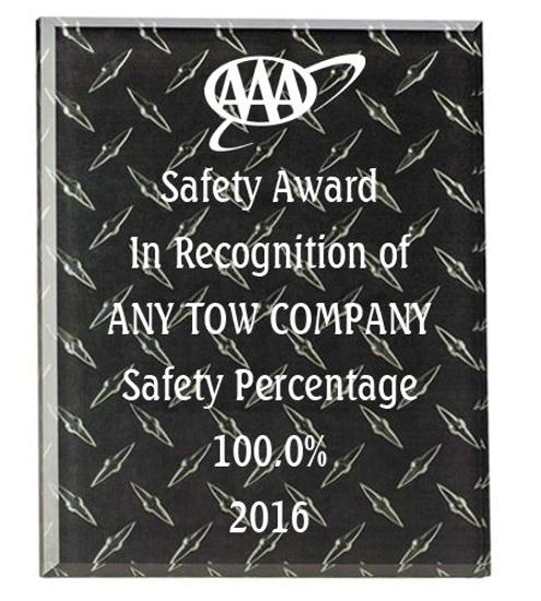 Picture of Black Steel Award Plaque