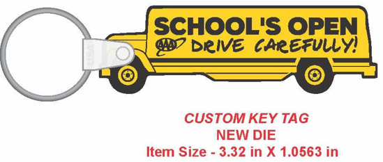 Picture of School Bus Key Chain