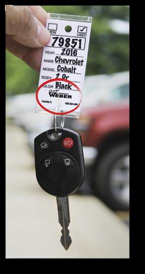 Picture of Repair Key Tags - Custom - Box of 250