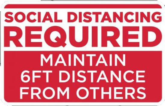 "Picture of ""Social Distancing"" Floor Graphics"