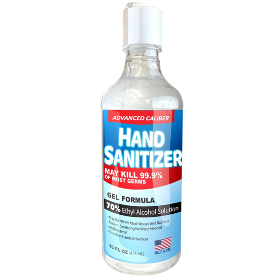 Picture of Gel Hand Sanitizer, 16 oz. Bottle Size